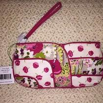 Vera Bradley Jazzy Clutch W/ Detachable Wrist-Strap in Make Me Blush Fabric Ntw Photo