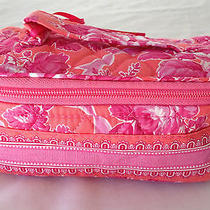 Vera Bradley Jewelry Case Travel Jewelry Bag Pink Hope Toile Photo