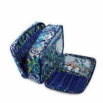 Vera Bradley Katalina Blues Large Blush Brush Makeup Case Bag Make Up Organizer Photo