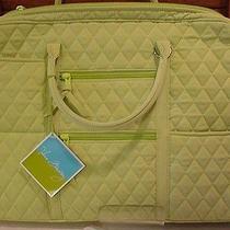 Vera Bradley Key Lime Microfiber Commuter Laptop Tote Bag  Photo