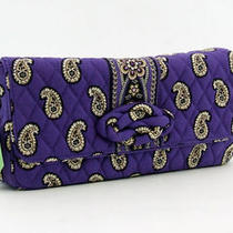 Vera Bradley Knot Just a Clutch Handbag Pattern Simply Violet Photo