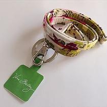 Vera Bradley Lanyard W/ Key Ring Make Me Blush Key Chain Clutch Attachment Rare Photo