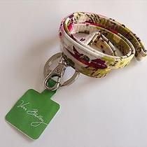 Vera Bradley Lanyard W/ Key Ring Make Me Blush Key Chain Clutch Attachment Rare Photo