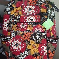 Vera Bradley Laptop Backpack Bittersweet Large Computer Travel School Bag Photo