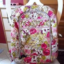 Vera Bradley Laptop Backpack Large Computer Bag in Make Me Blush Photo
