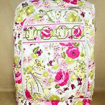 Vera Bradley Laptop Campus Backpack Make Me Blush Pink Green Floral Print Photo
