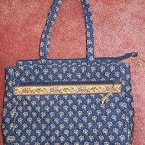 Vera Bradley Laptop Computer Bag Briefcase Retired Maison Blue  Photo