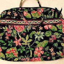 Vera Bradley Laptop Computer Bag Tote Botanica Retired Euc Photo