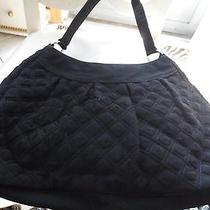 Vera Bradley Large Black Quilted Microfiber Handbag  Photo