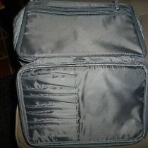 Vera Bradley Large Blush and Brush Makeup Case Bag Travel Preowned  Photo