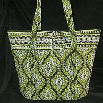 Vera Bradley Large Classic Tote in Cambridge Shoulder Bag Purse Euc Photo