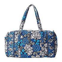 Vera Bradley Large Duffel Blue Bayou Suitcase Duffle Bag Tote New Photo
