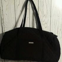 Vera Bradley Large Duffel Classic Black Cotton Luggage Suitcase Bag Nwot Photo