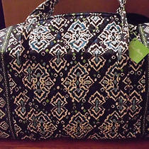Vera Bradley Large Duffel--Ink Blue Retired  Feb 2015--Nwt(see Other Listings) Photo