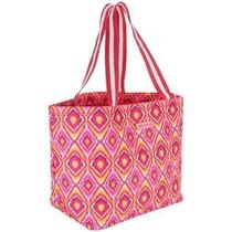 Vera Bradley   Large Family Tote Clementine Ikat Nwt Free Shipping Photo
