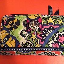 Vera Bradley Large Turnlock Wallet ( Rio Pattern ) Bright Colors Photo