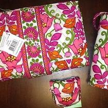 Vera Bradley Lilli Bell 3 Pc Baby Set Changing Pad Pacifier Pod Bottle Caddy Photo