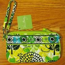 Vera Bradley Limes Up Green Aqua Wristlet Purse Bag New Nwt 34 Photo
