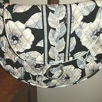 Vera Bradley Lizzie Bag Crossbody Tote Purse Retired Camellia Black White Floral Photo
