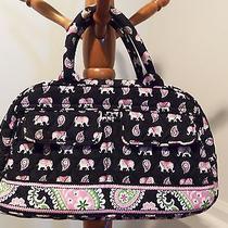 Vera Bradley Lola Purse Handbag Pink Elephants Retired  Excellent Condition Photo