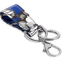 Vera Bradley Loop Keychain Key Ring Snap Closure Claw Clasp Blue Bayou Photo