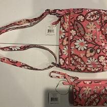Vera Bradley Mail Bag and Matching Wristlet-Nwt-Blush Pink Photo