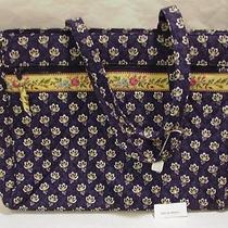 Vera Bradley Maison Blue Metropolitan Business Bag Tote Nwt Photo