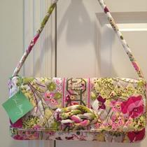 Vera Bradley Make Me Blush Knot Just a Clutch Shoulder Bag Purse New Flowers Photo