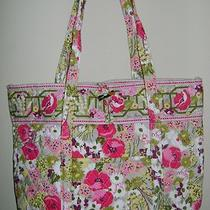 Vera Bradley Make Me Blush Vera Xl Bag Tote Floral Photo