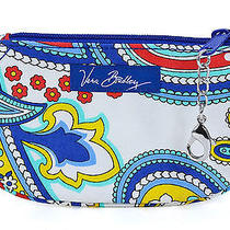 Vera Bradley Marina Paisley Clip Zip Id Case Wallet Gift Card Holder New Photo