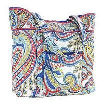Vera Bradley Marina Paisley Vera Tote Carry on Handbag New Photo