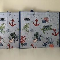 Vera Bradley Market Tote Anchors Aweigh Set of 2 Bags Turtle Photo