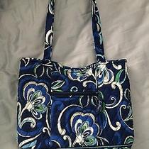 Vera Bradley Mediterranean Blue Bucket Tote Handbag Purse Retired Rare Euc Photo
