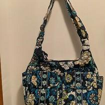 Vera Bradley Medium Blue Floral Tote Bag Photo