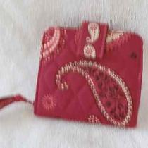 Vera Bradley Mesa Red Pattern Mini Zip Wallet Nwot 2008 Photo