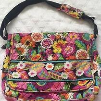 Vera Bradley Messenger Bag Va Floral Bloom Purple Pink Yellow Orange Photo
