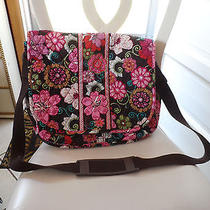 Vera Bradley Messenger/computer Bag in Pink Mod Floral Euc Photo