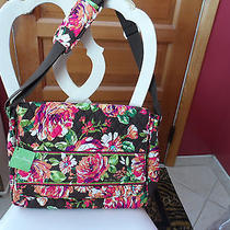 Vera Bradley Messenger/computer Bag in Retired English Rose Pattern  Nwt Photo