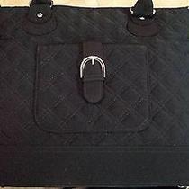 Vera Bradley Microfiber Black Convertible Shoulder or Handbag/purse - Nwot Photo