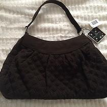 Vera Bradley Microfiber Brown Hobo Handbag Photo