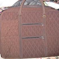 Vera Bradley Microfiber Espresso Briefcase Laptop Computer Case -- Nwot Photo