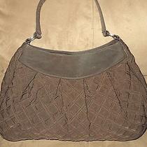 Vera Bradley Microfiber Hobo Shoulder Bag Medium-Large Browns Photo
