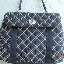 Vera Bradley Microfiber Quilted Black Bag Mint Condition Photo