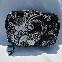 Vera Bradley Midnight Paisley Large Blush & Brush Makeup Case Cosmetic Bag Photo