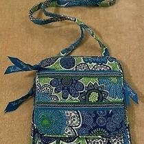 Vera Bradley Mini Hipster in Doodle Daisy - Bag - Crossbody Purse - Green Blue Photo