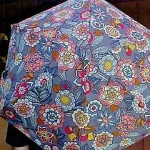 Vera Bradley Mini Umbrella Tropical Evening Design 15834-N09 Automatic Compact Photo