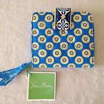 Vera Bradley Mini Zip Snap Wallet Riviera Blue 10116-006  New With Tags Photo