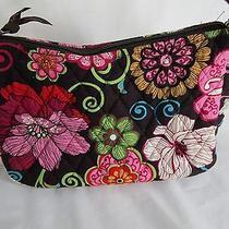 Vera Bradley Mod Floral Pink Retired Purse Handbag Black Pink Green Flowers Photo