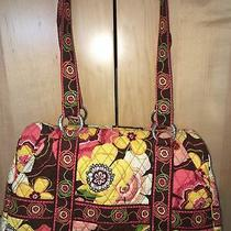 Vera Bradley Mod Floral Yellow Quilted Tote Purse Zip Large Shoulder Bag Photo