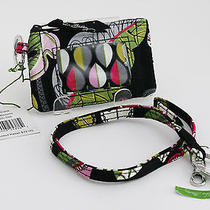 Vera Bradley Moom Blooms Zip Id Case Plus Lanyard Key Ring Id Holder Nwt Photo